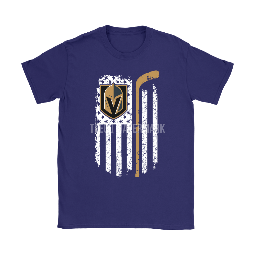 American Vegas Golden Knights Flag With Hockey Stick Shirts 7