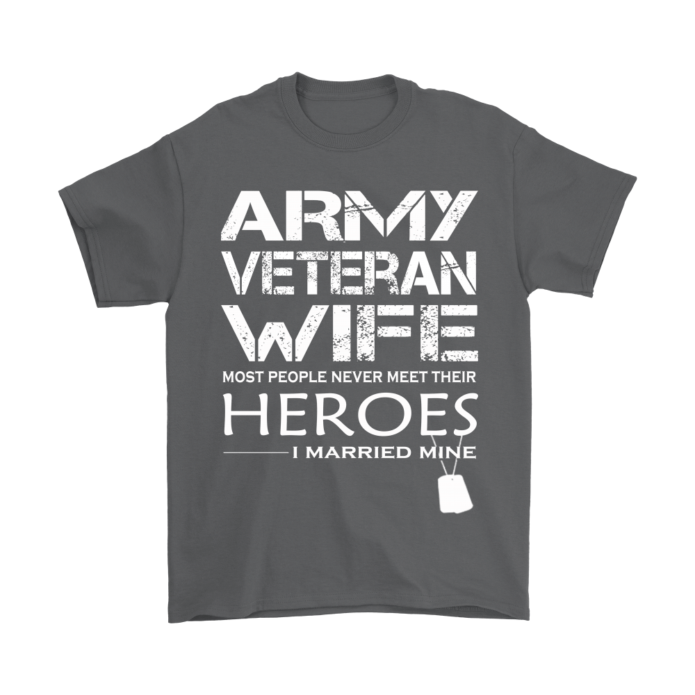 Army Veteran Wife I Married My Hero Shirts 2