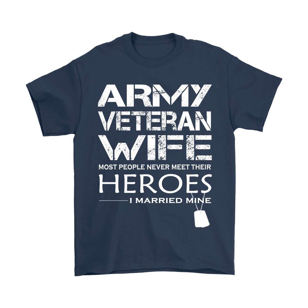 Army Veteran Wife I Married My Hero Shirts 3