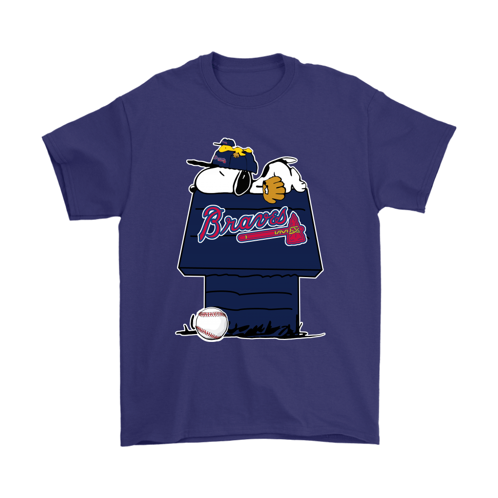 Atlanta Braves Snoopy And Woodstock Resting Together MLB Shirts 4