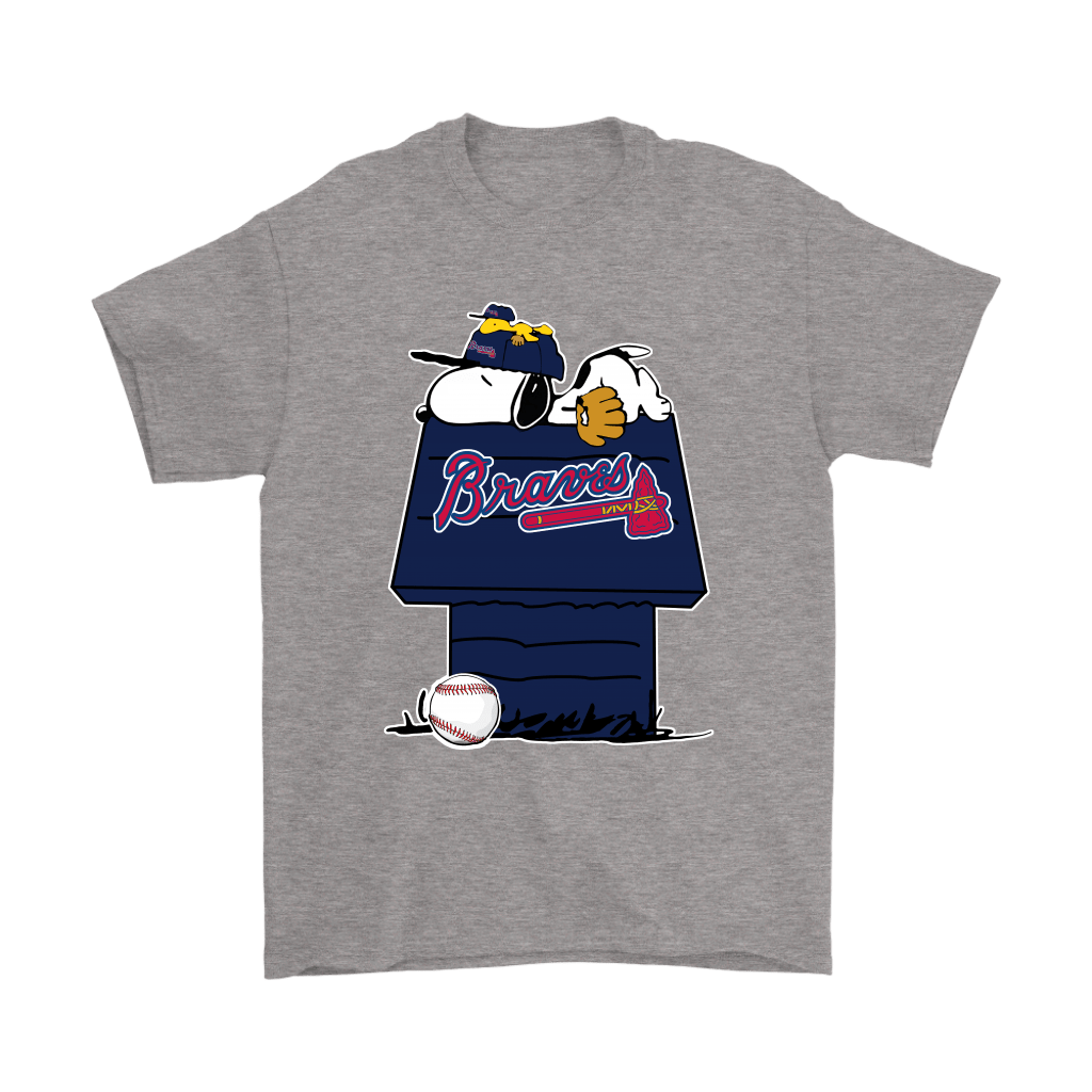 Atlanta Braves Snoopy And Woodstock Resting Together MLB Shirts 6