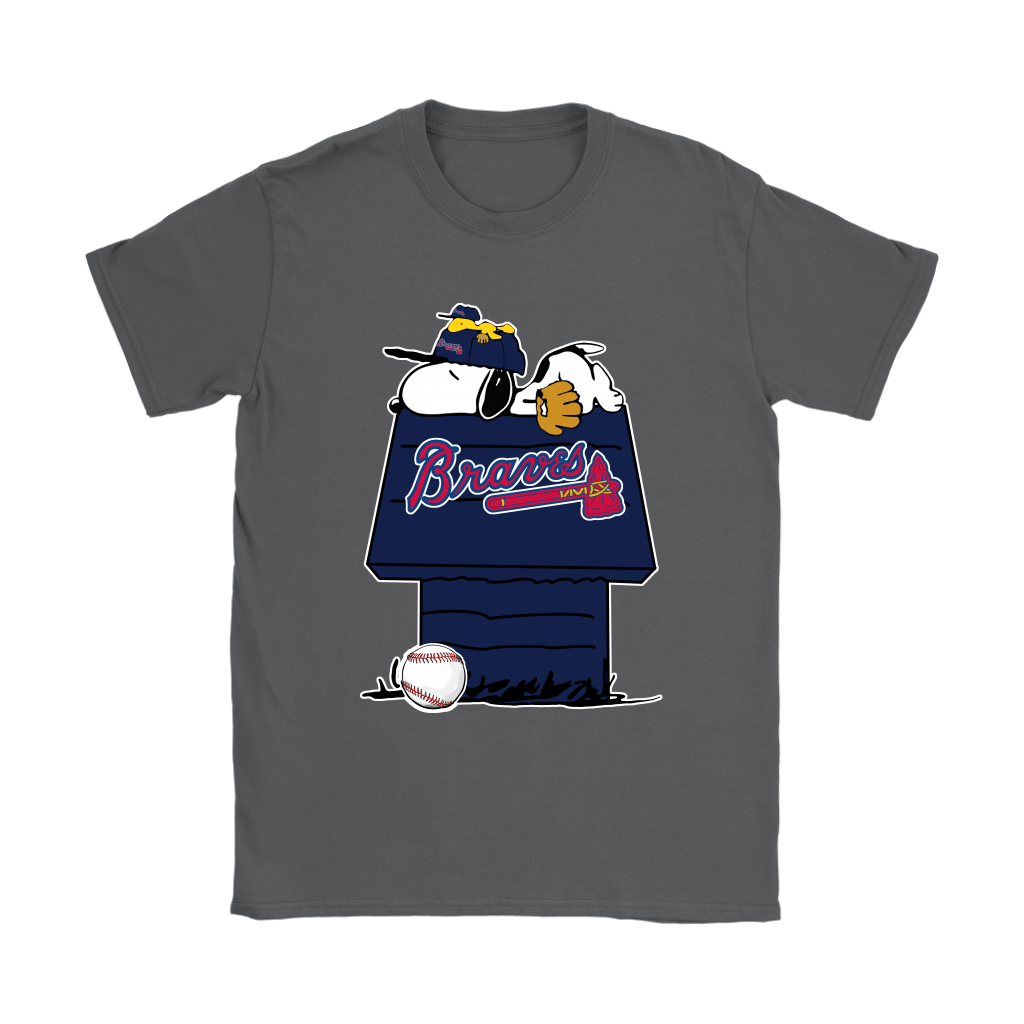 Atlanta Braves Snoopy And Woodstock Resting Together MLB Shirts 9