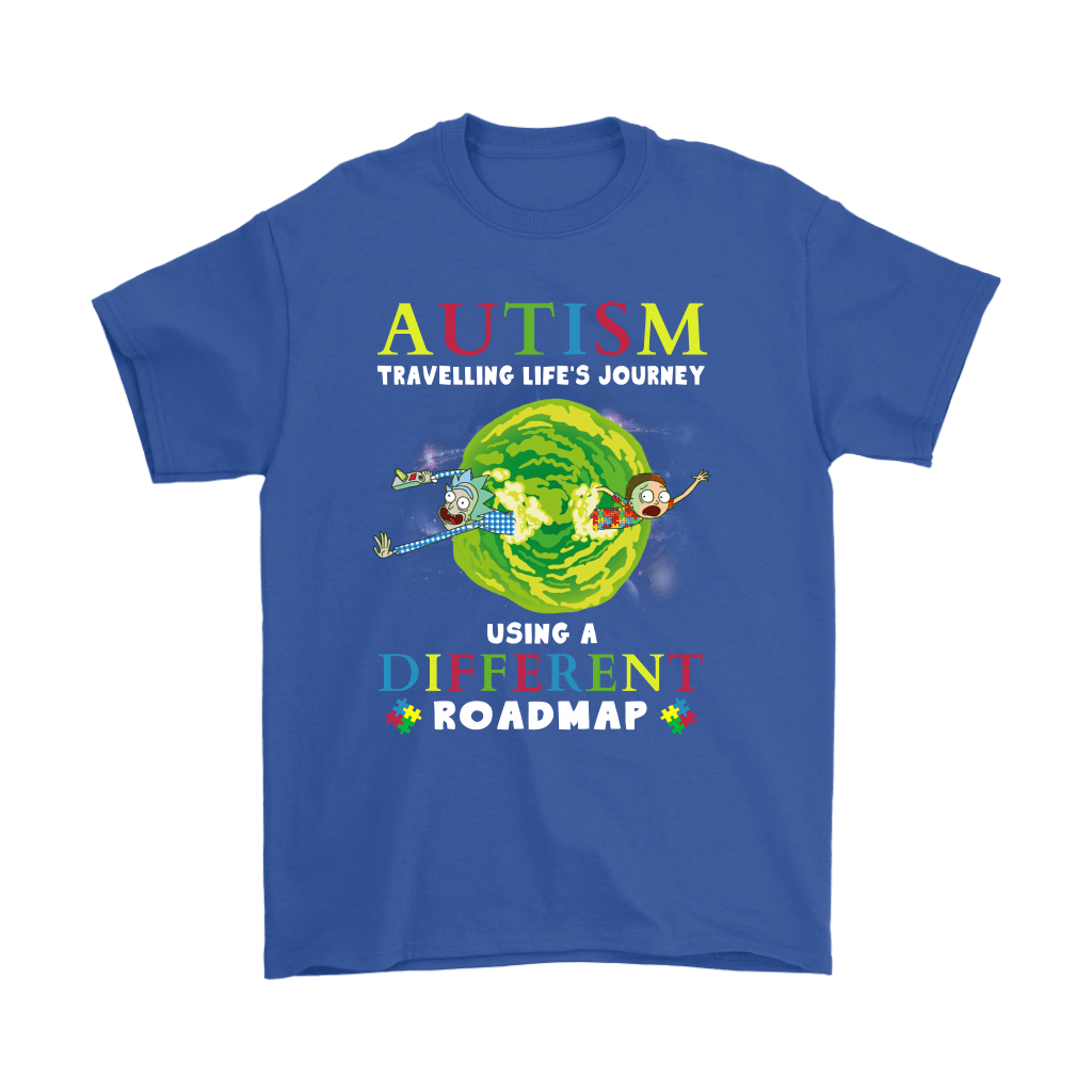 Autism Travelling Life's Journey Using A Different Roadmap Shirts 5