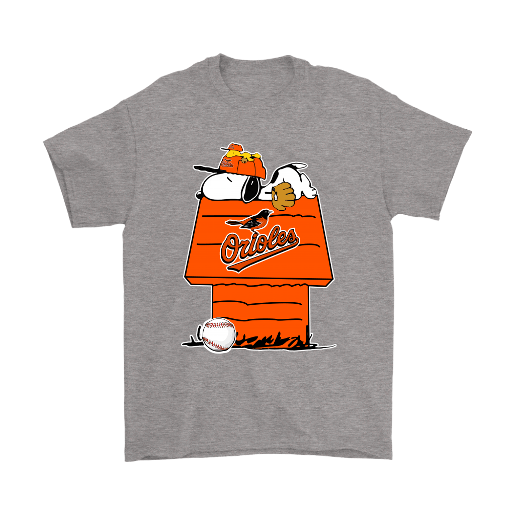 Baltimore Orioles Snoopy And Woodstock Resting Together MLB Shirts 6