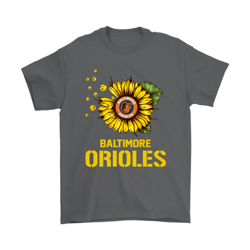 Baltimore Orioles Sunflower MLB Baseball Shirts 2