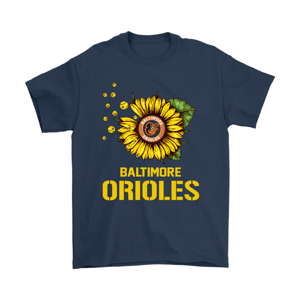 Baltimore Orioles Sunflower MLB Baseball Shirts 3