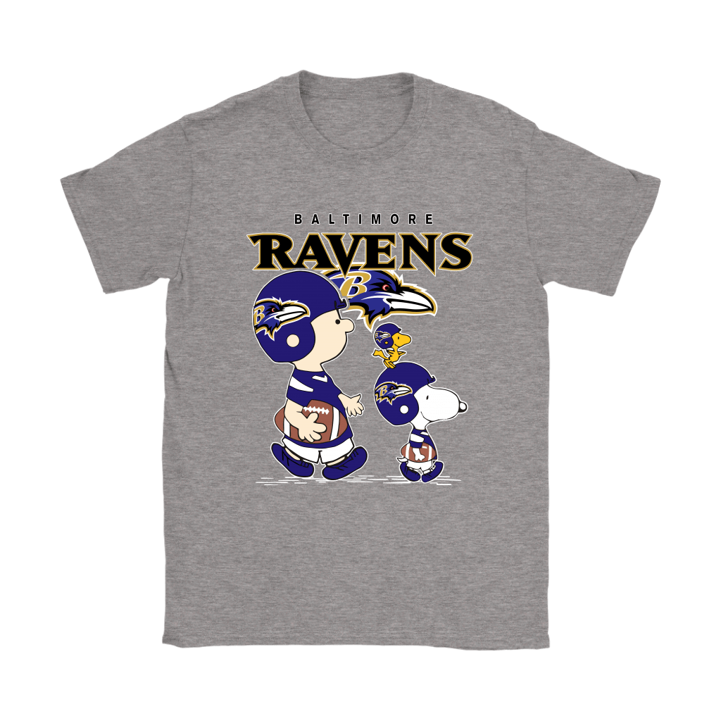 Baltimore Ravens Let's Play Football Together Snoopy NFL Shirts 12