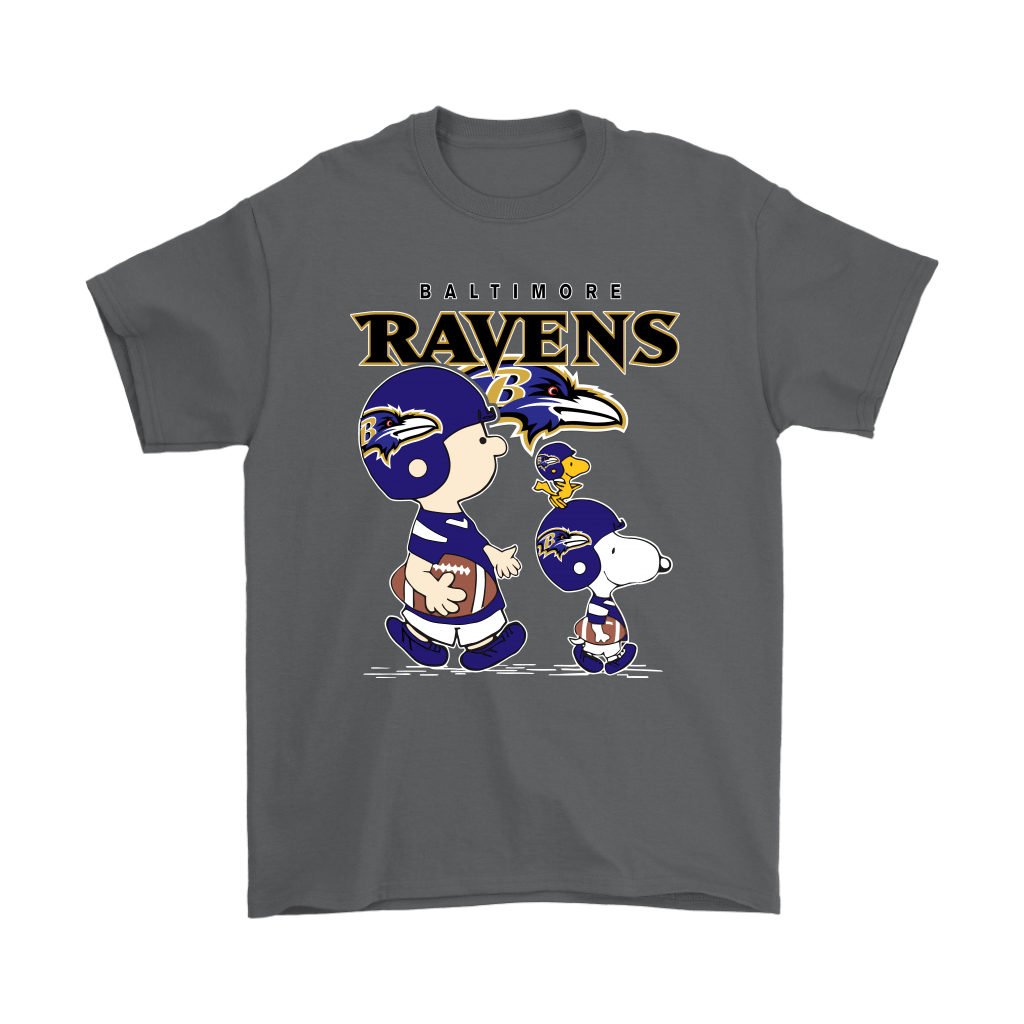 Baltimore Ravens Let's Play Football Together Snoopy NFL Shirts 2