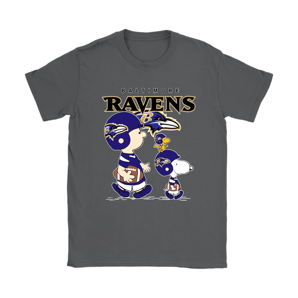 Baltimore Ravens Let's Play Football Together Snoopy NFL Shirts 8