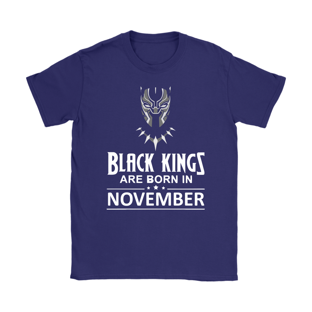 Black Kings Are Born In November Black Panther Shirts 9