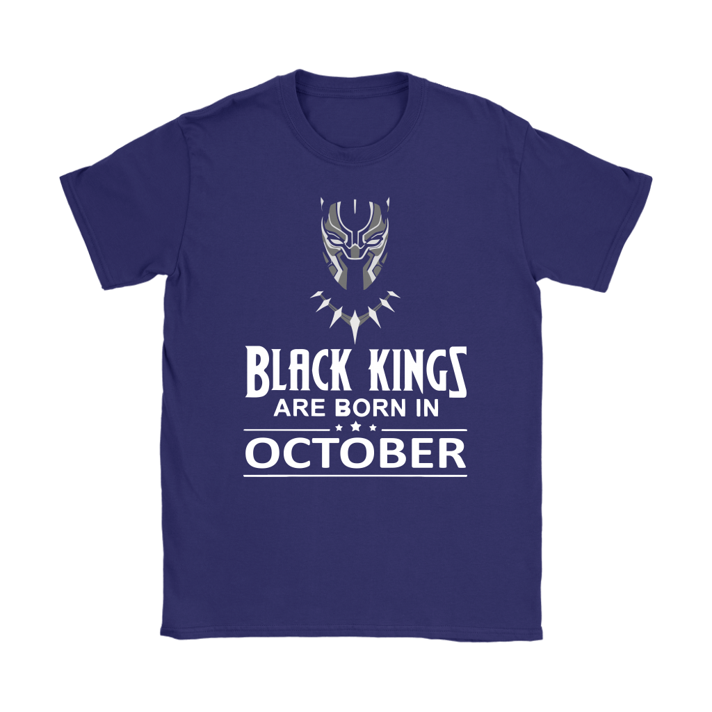 Black Kings Are Born In October Black Panther Shirts 9