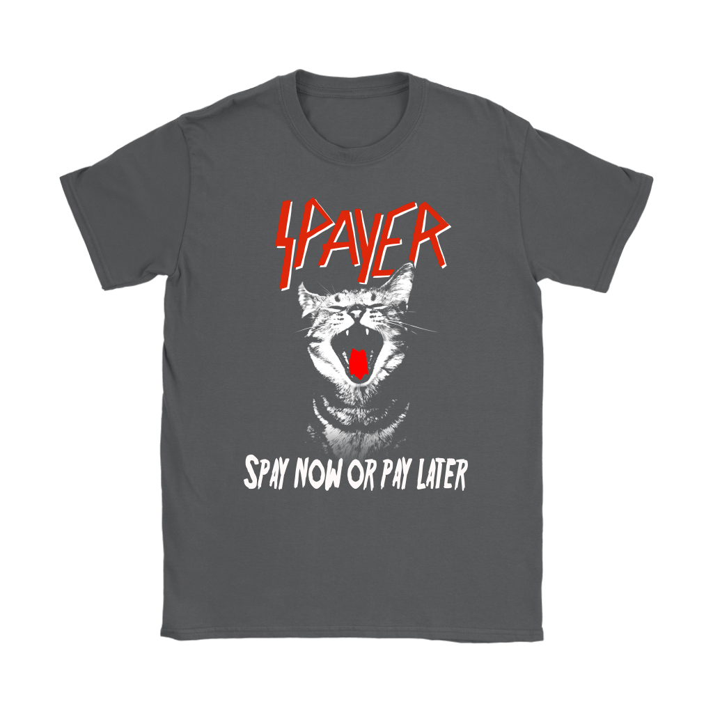 Cat Spayer Spay Now Or Pay Later x Slayer Band Shirts 8