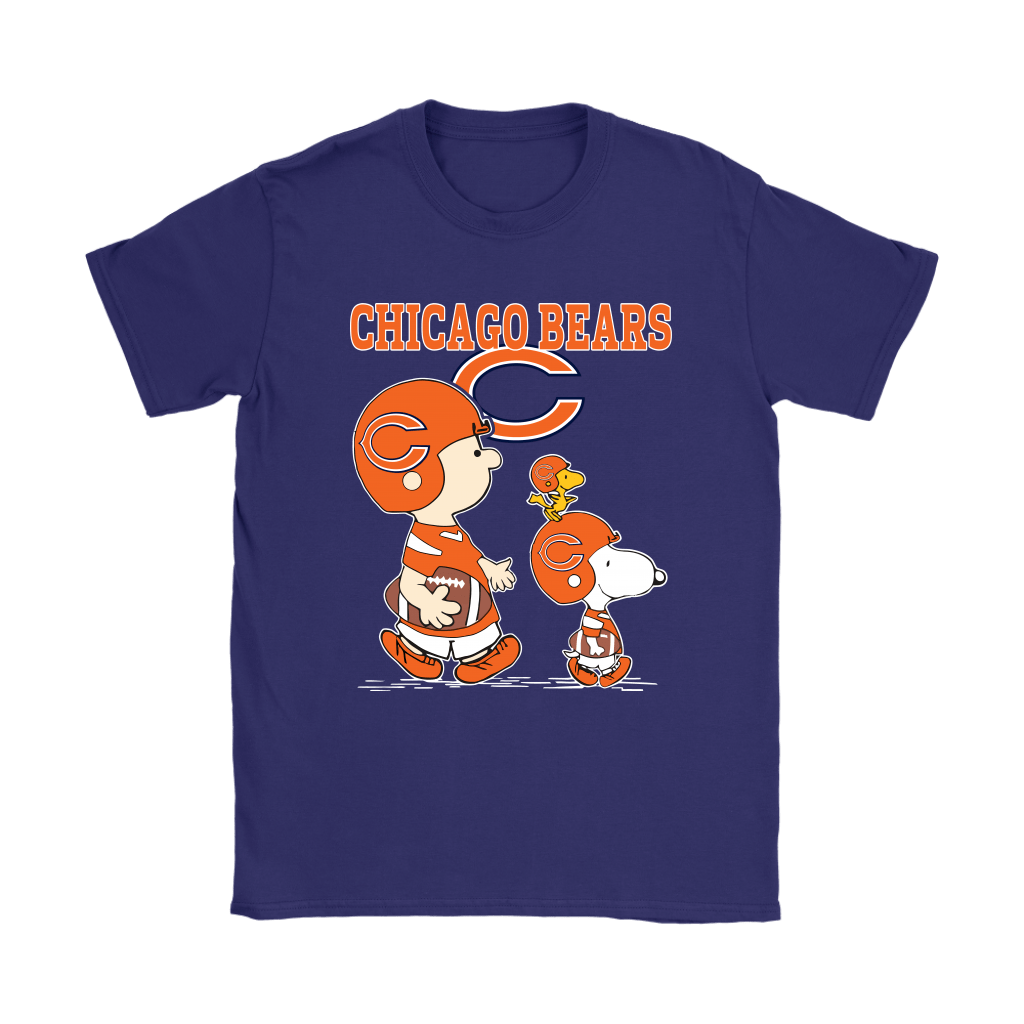 Chicago Bears Let's Play Football Together Snoopy NFL Shirts 10