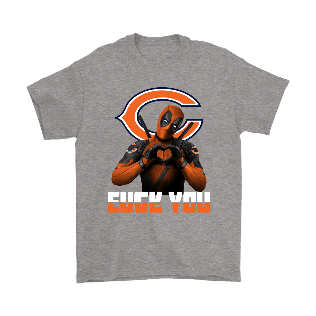 Chicago Bears x Deadpool Fuck You And Love You NFL Shirts 6