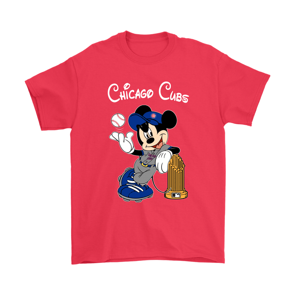 Chicago Cubs Mickey Taking The Trophy MLB 2018 Shirts 5