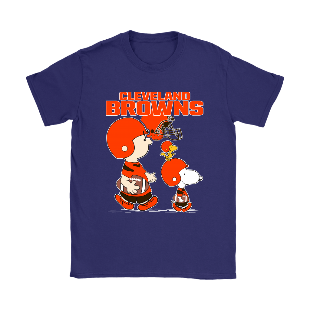 Cleveland Browns Let's Play Football Together Snoopy NFL Shirts 10