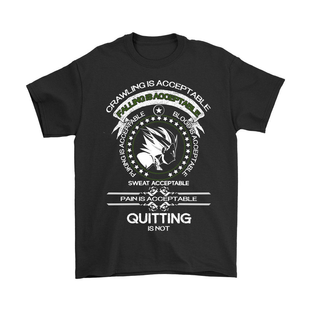 Dragon Ball - Crawling Is Acceptable Falling Is Acceptable Shirts 1