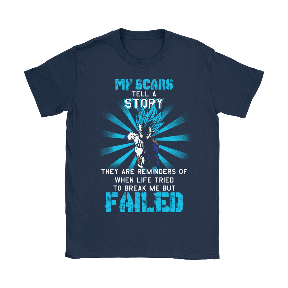 Dragon Ball (Vegeta) - My Scars Tell A Story Dragon Ball Shirts 5