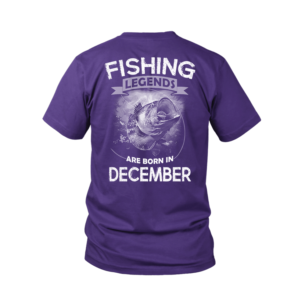 Fishing Legends Are Born In December Shirts 3