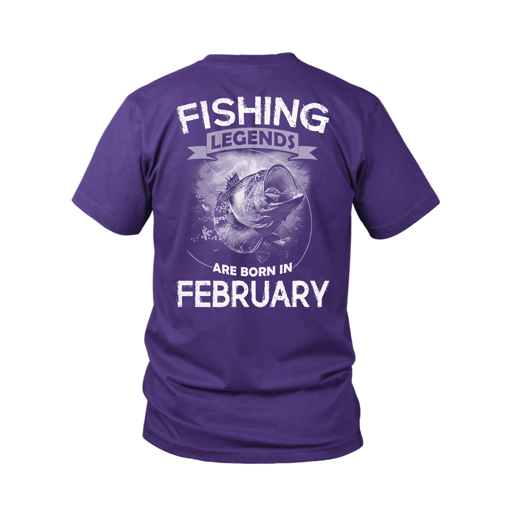 Fishing Legends Are Born In February Shirts 6