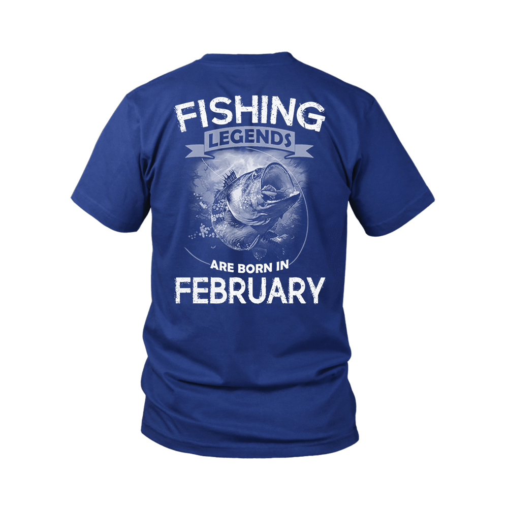 Fishing Legends Are Born In February Shirts 7