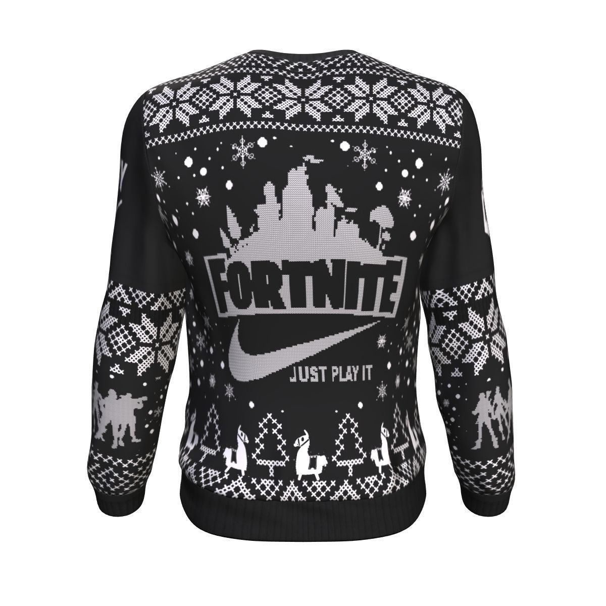 64fc6cce Fortnite Battle Royale X Nike Just Play It All Over Printed Sweater.  Saturdays Are For Victory Fortnite Battle Royale Shirts Teeqq Store