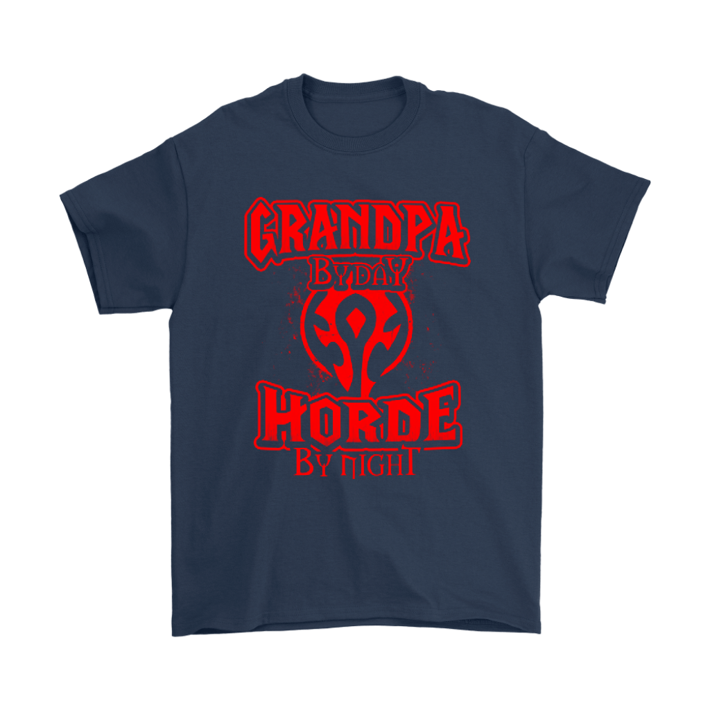 Grandpa By Day Horde By Night World Of Warcraft Shirts 2