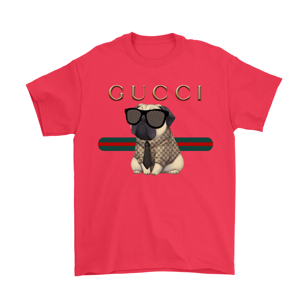 Gucci Stripe Pug Stay Stylish Dog-Lovers Shirts 5