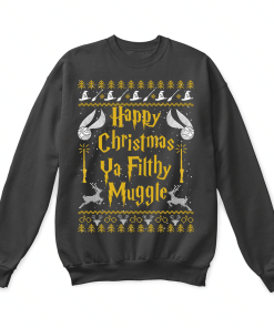 bfe71d47 Happy Christmas Ya Filthy Muggle Harry Potter Ugly Sweater