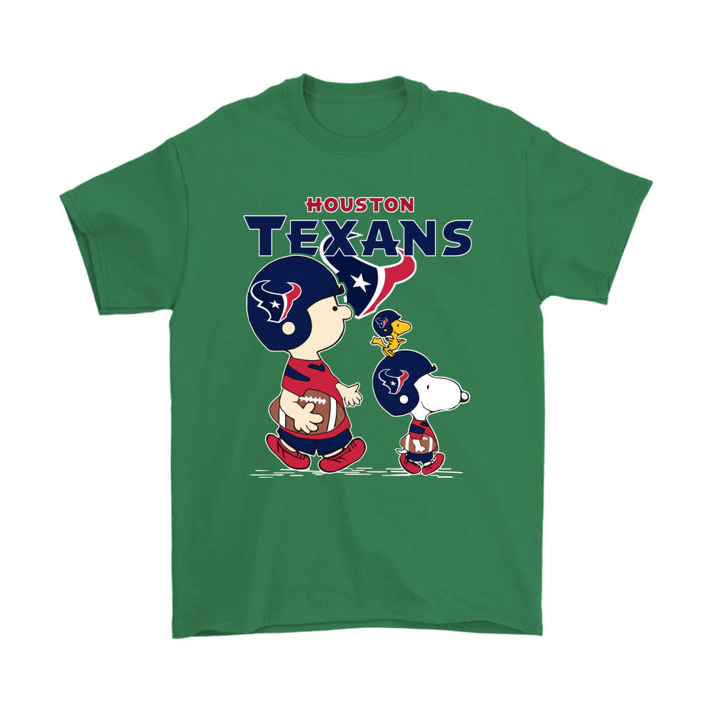 Houston Texans Let's Play Football Together Snoopy NFL Shirts 7