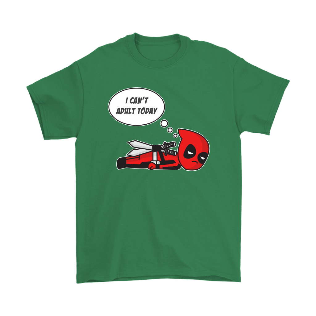 I Can't Adult Today Marvel Lazy Deadpool Shirts 7