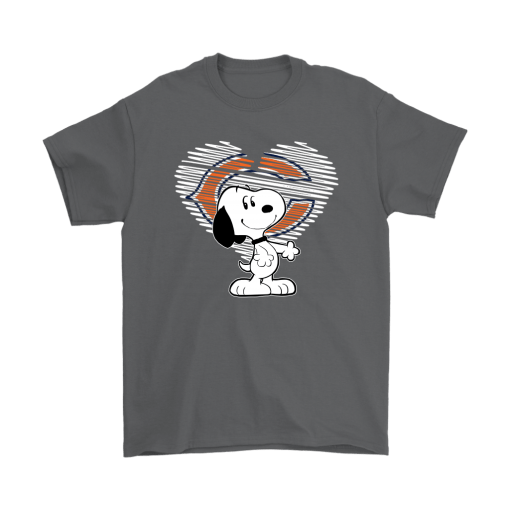 I Love Chicago Bears Snoopy In My Heart NFL Shirts 2