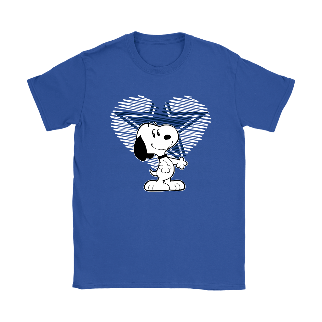 I Love Dallas Cowboys Snoopy In My Heart NFL Shirts 11
