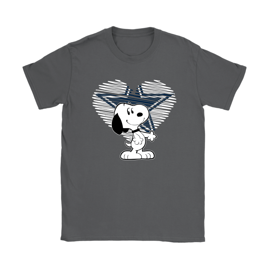 I Love Dallas Cowboys Snoopy In My Heart NFL Shirts 8