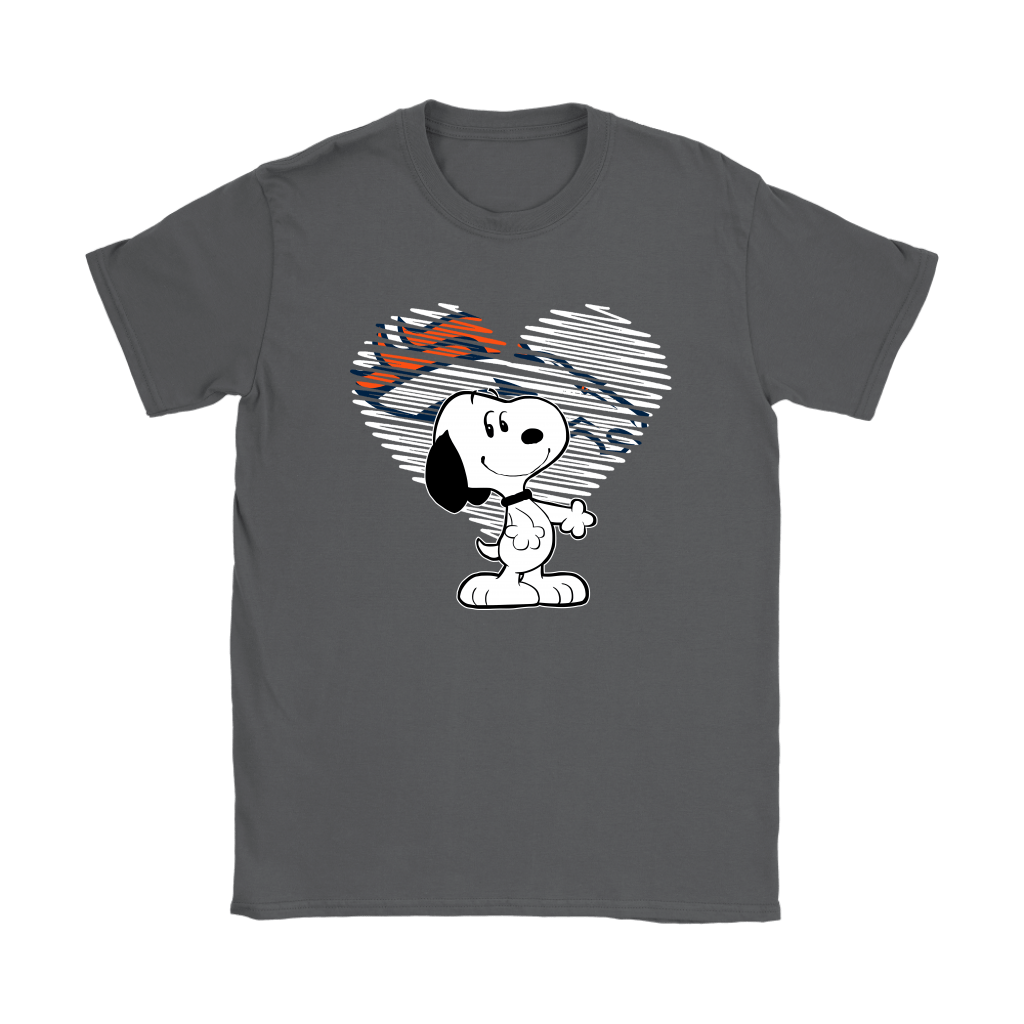 I Love Denver Broncos Snoopy In My Heart NFL Shirts 8