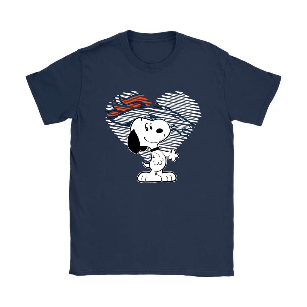 I Love Denver Broncos Snoopy In My Heart NFL Shirts 9