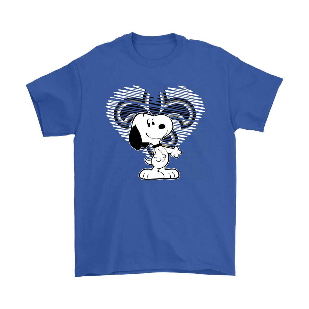 I Love New Orleans Saints Snoopy In My Heart NFL Shirts 5