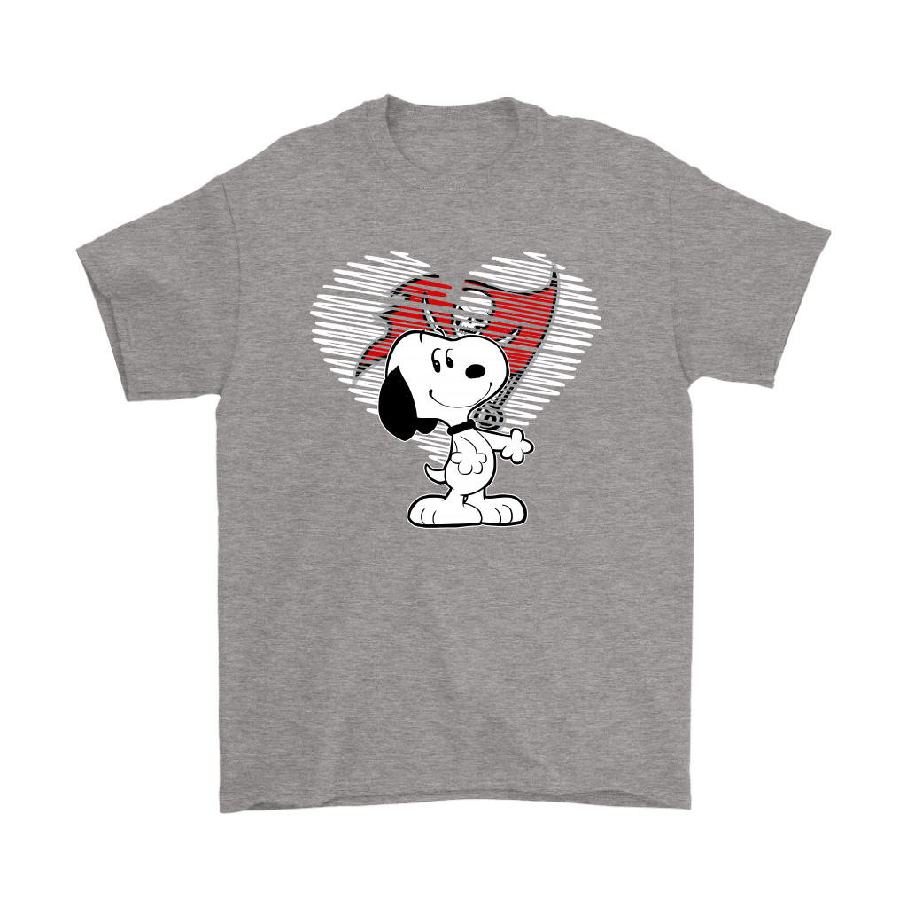 I Love Tampa Bay Buccaneers Snoopy In My Heart NFL Shirts 6