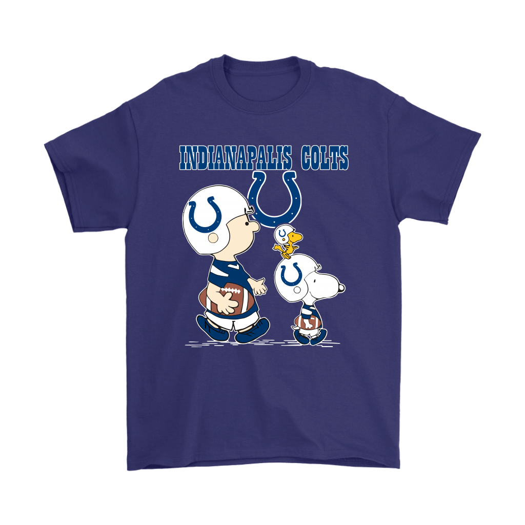 Indianapolis Colts Let's Play Football Together Snoopy NFL Shirts 4