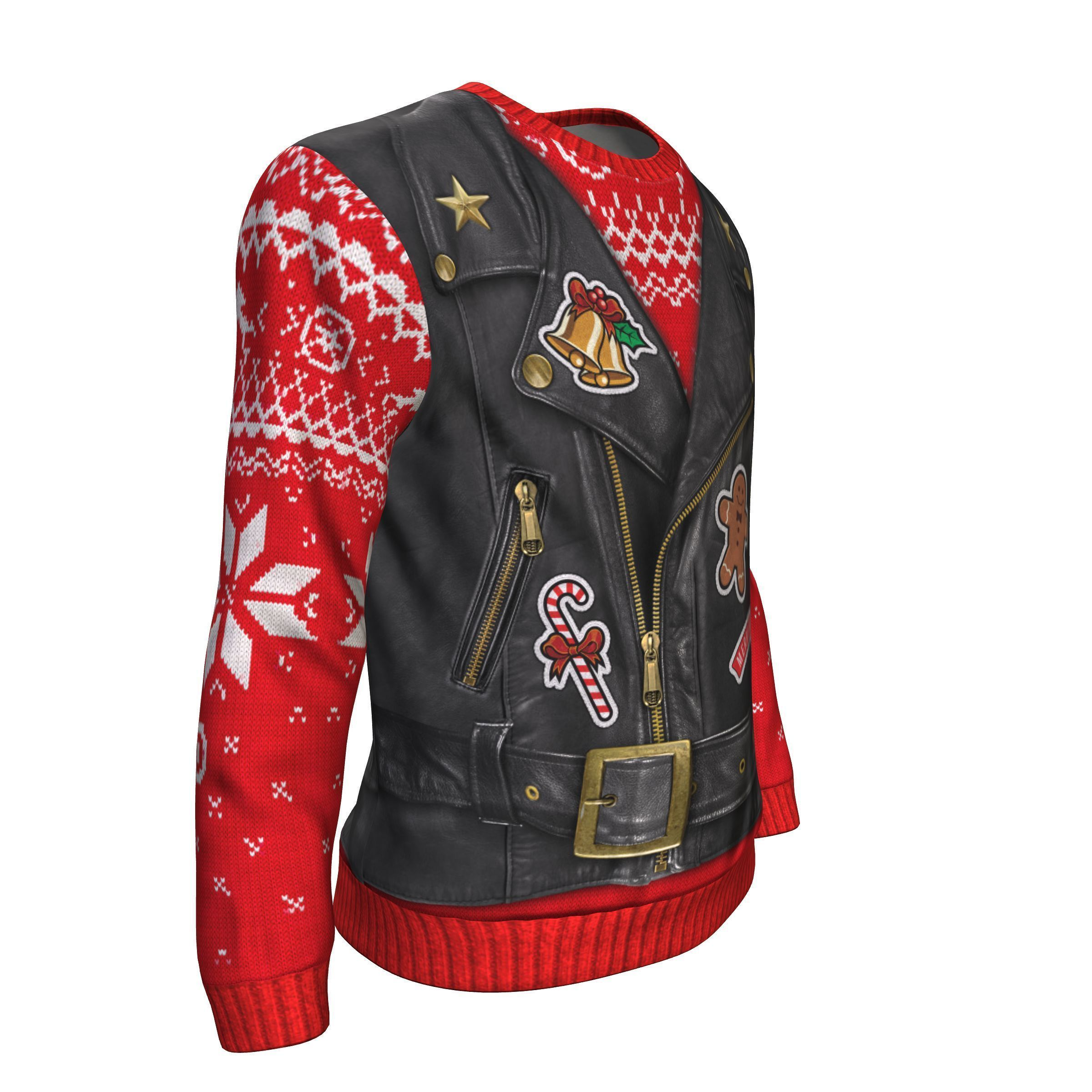 Biker Christmas.It Is To Ride Santa Claus For Biker Christmas All Over Printed Sweater