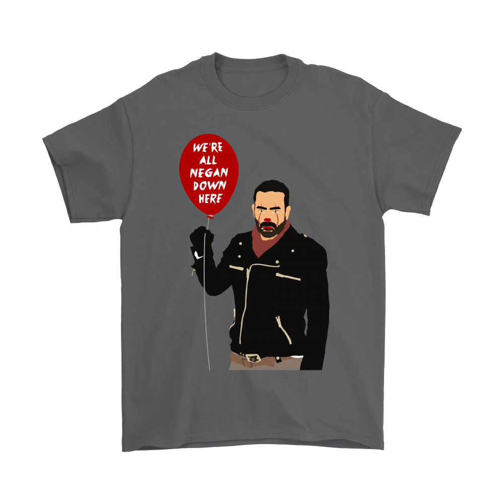 IT Pennywise And Walking Dead Parody Negan Down Here Stephen Shirts 2