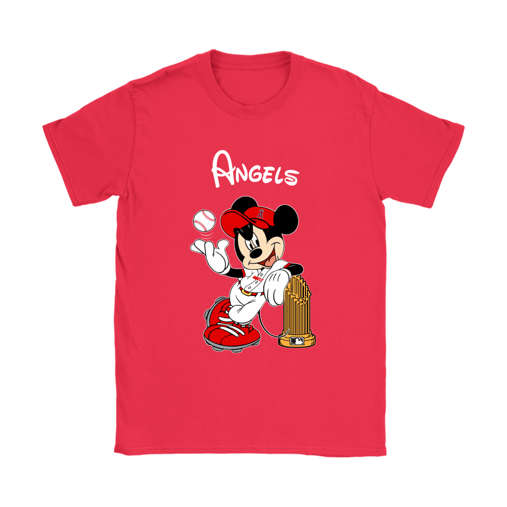 Los Angeles Angels Mickey Taking The Trophy MLB 2018 Shirts 12