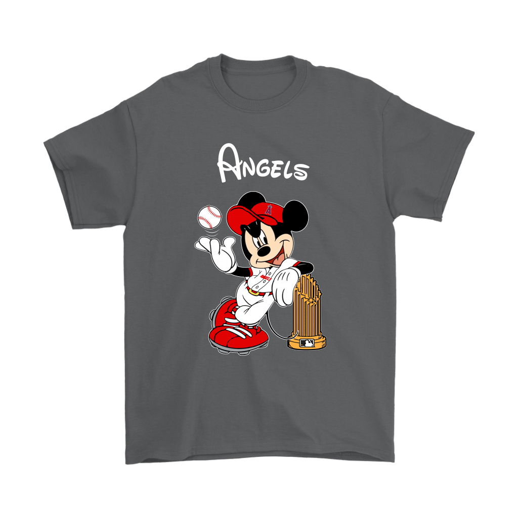 Los Angeles Angels Mickey Taking The Trophy MLB 2018 Shirts 2