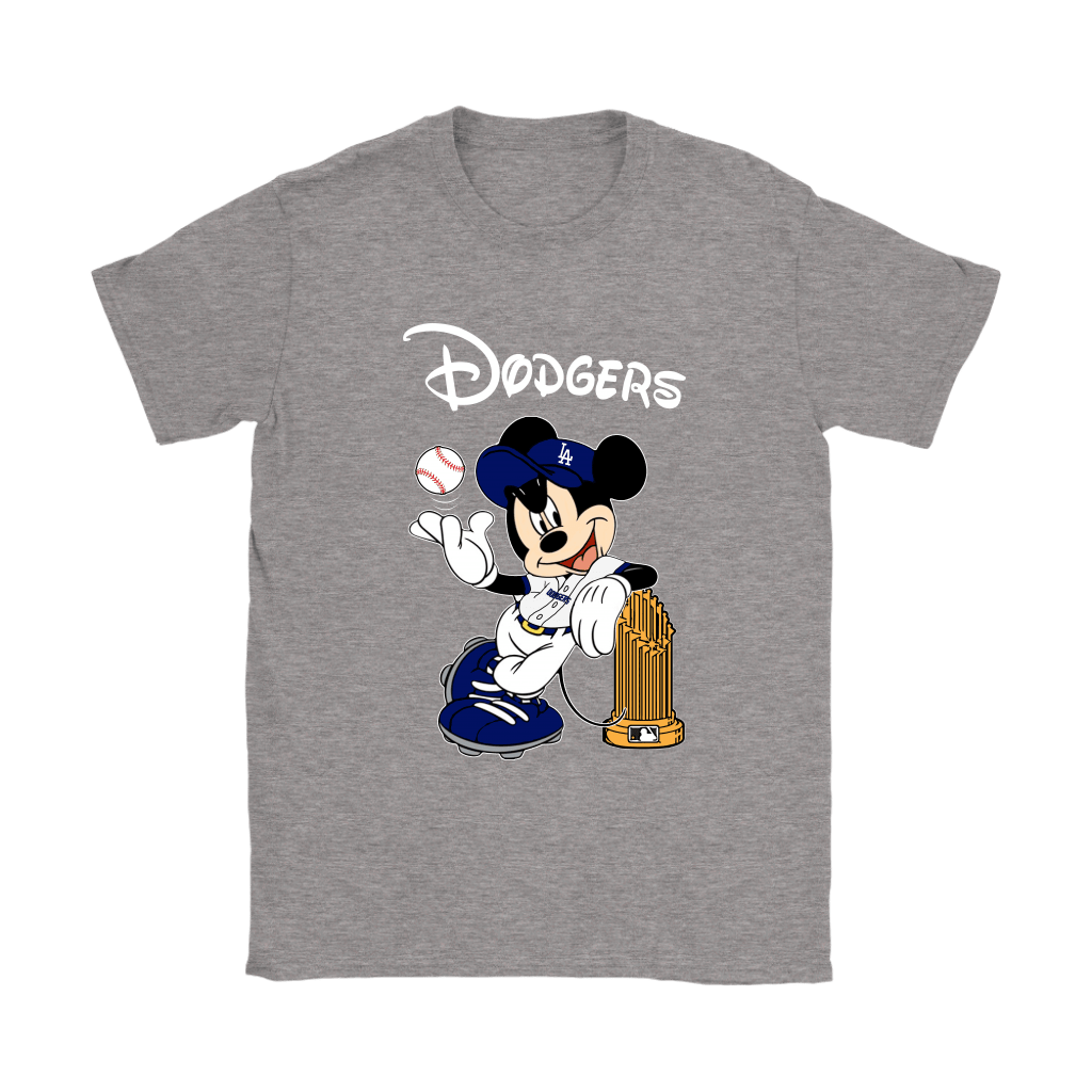 Los Angeles Dodgers Mickey Taking The Trophy MLB 2018 Shirts 14