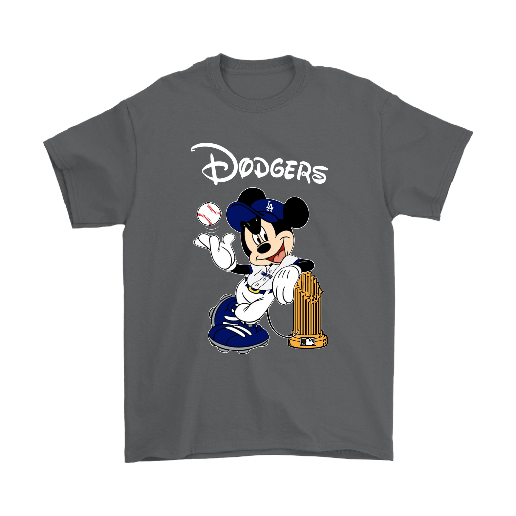 Los Angeles Dodgers Mickey Taking The Trophy MLB 2018 Shirts 2