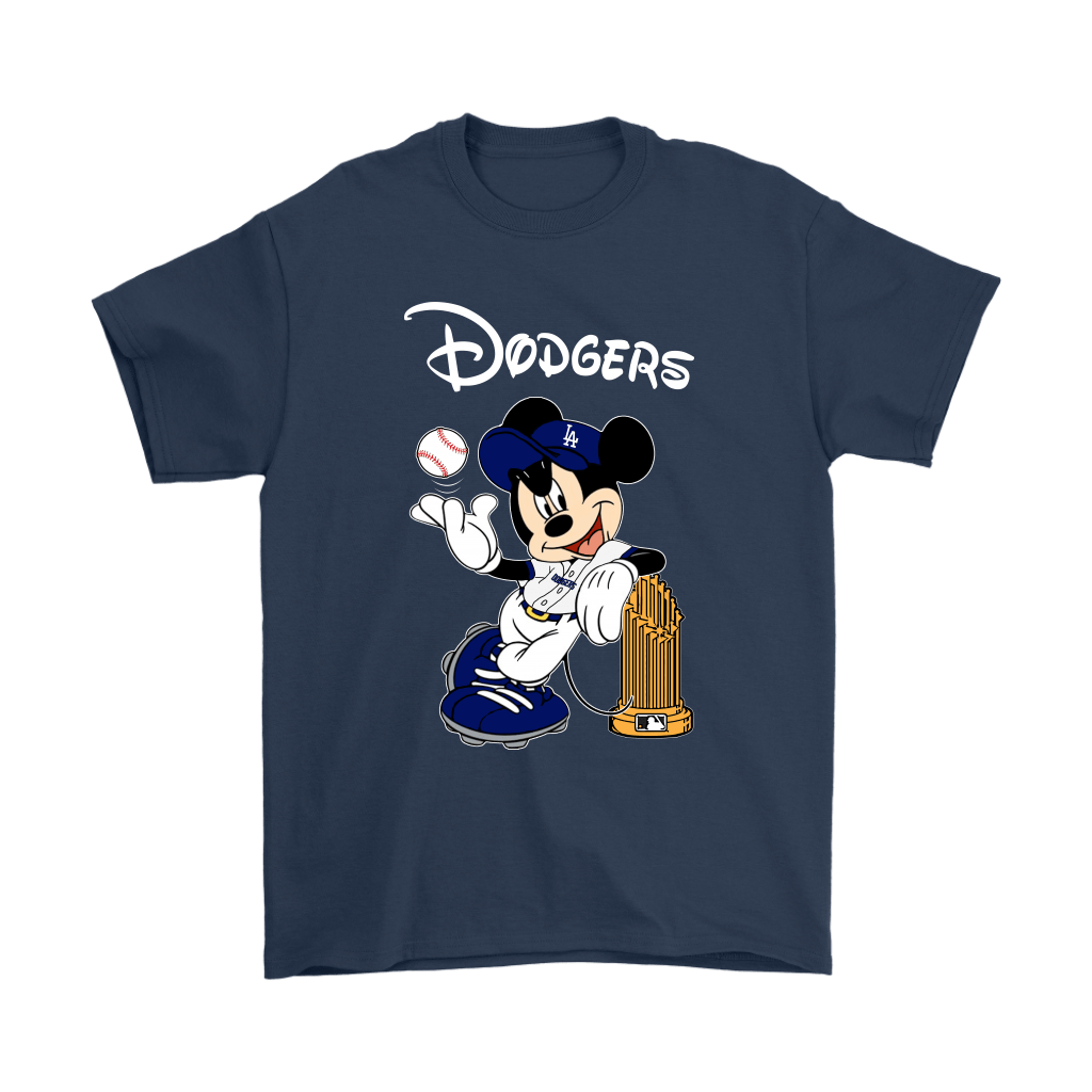 Los Angeles Dodgers Mickey Taking The Trophy MLB 2018 Shirts 3
