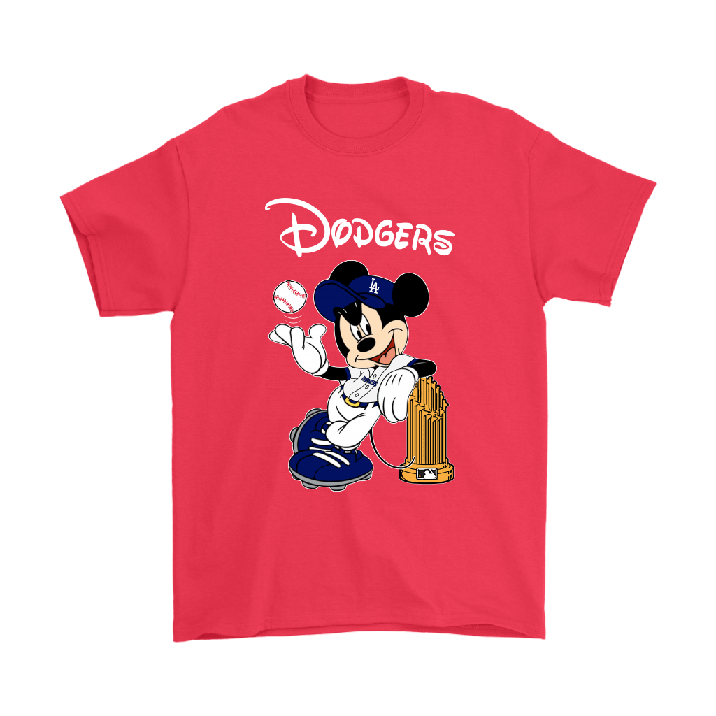 Los Angeles Dodgers Mickey Taking The Trophy MLB 2018 Shirts 5