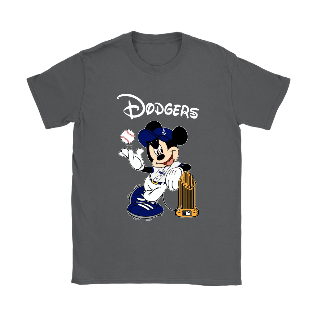 Los Angeles Dodgers Mickey Taking The Trophy MLB 2018 Shirts 9