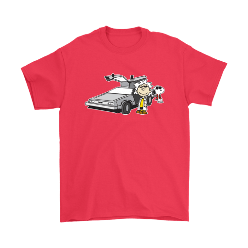 Doc Brown Back To Future Mashup Snoopy Shirts 5