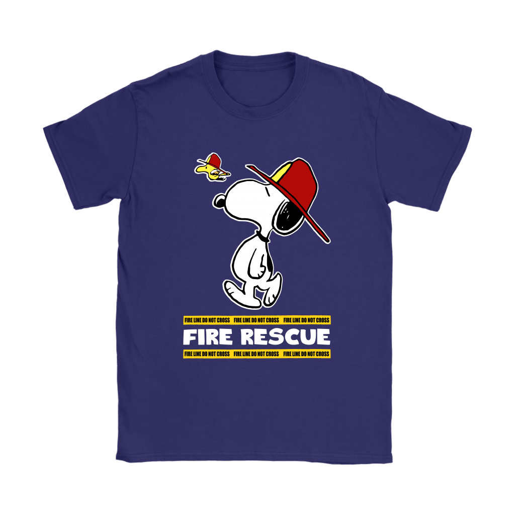 Firefighter Fire Rescue Woodstock Snoopy Shirts 11